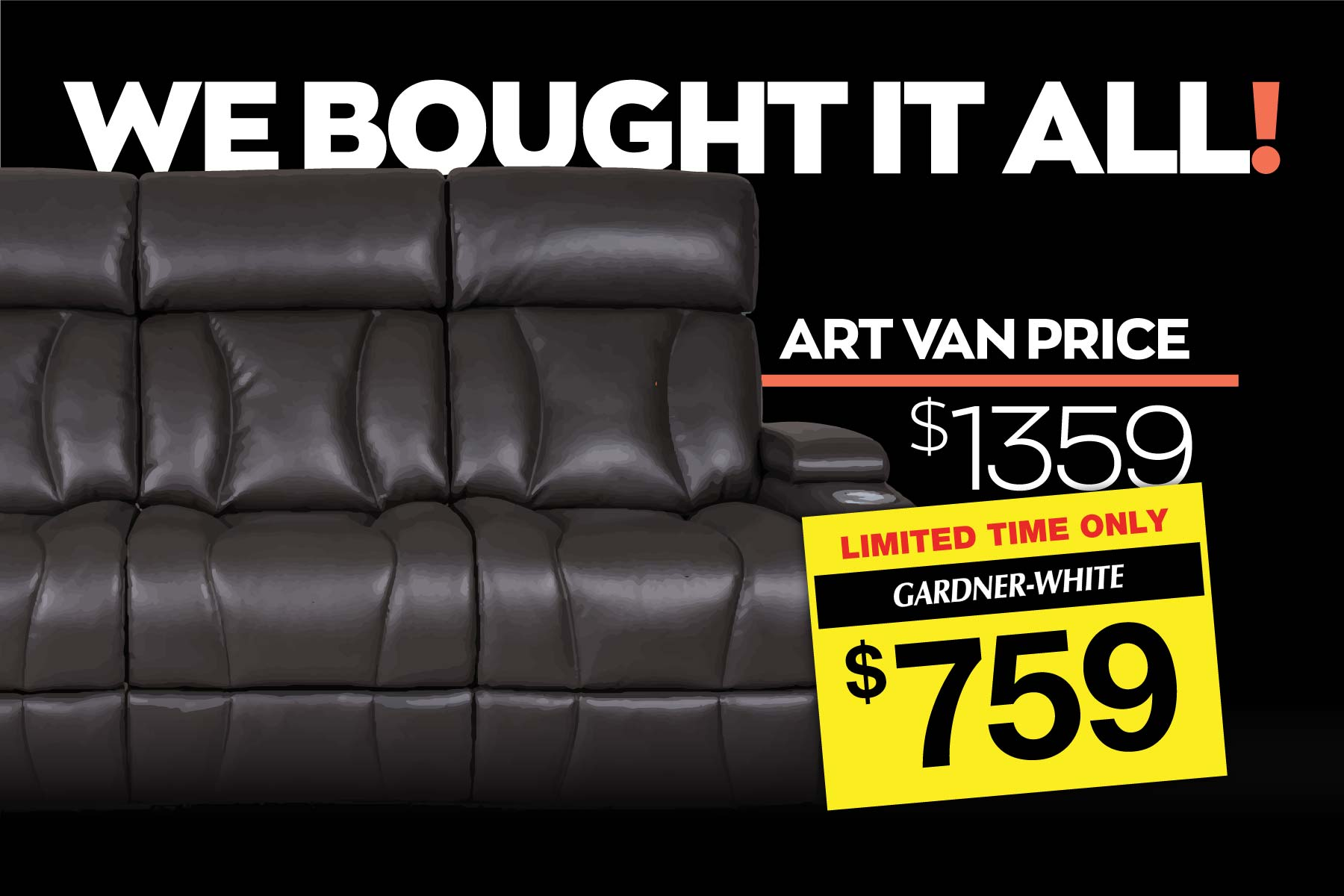 We Bought It All! Discount items from the Art Van liquidation