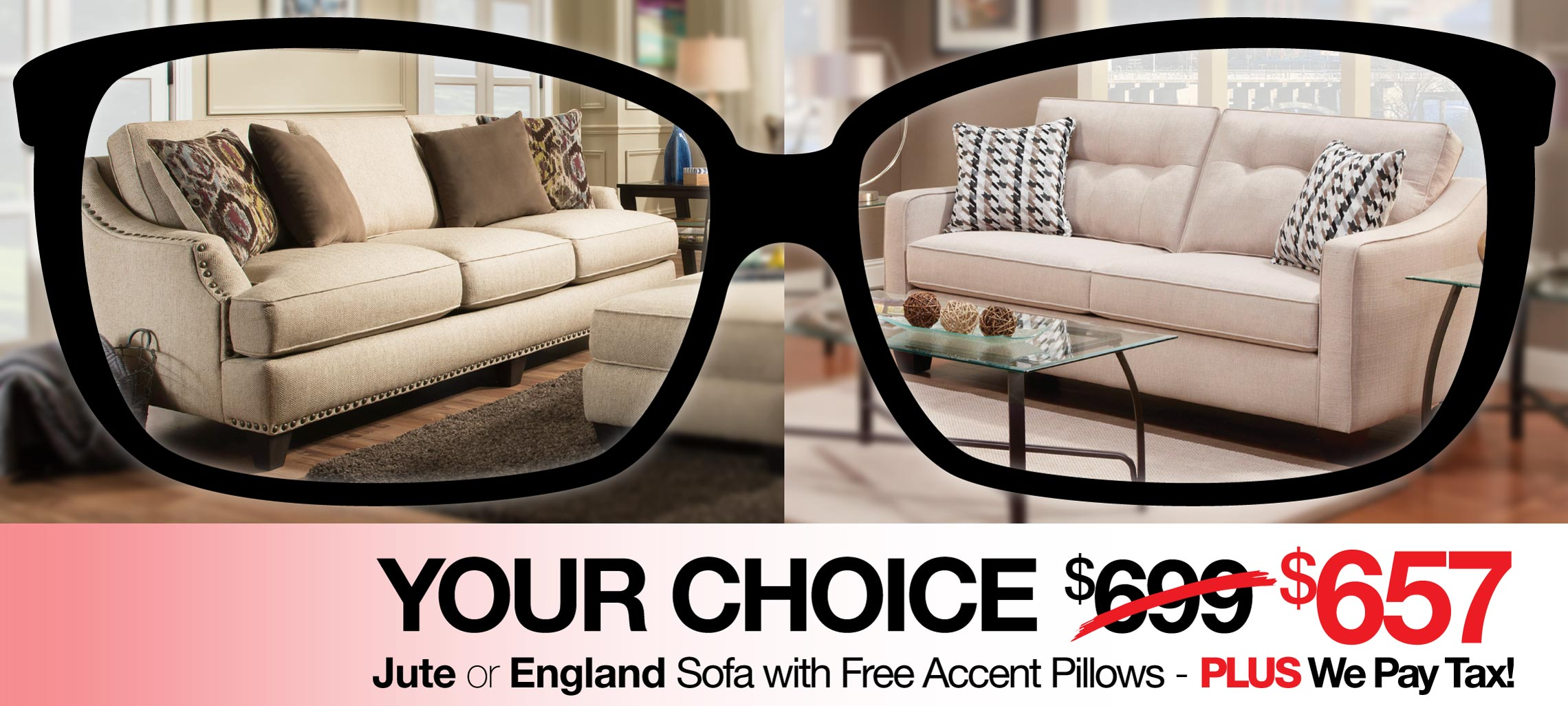 Your Choice - Jute or England